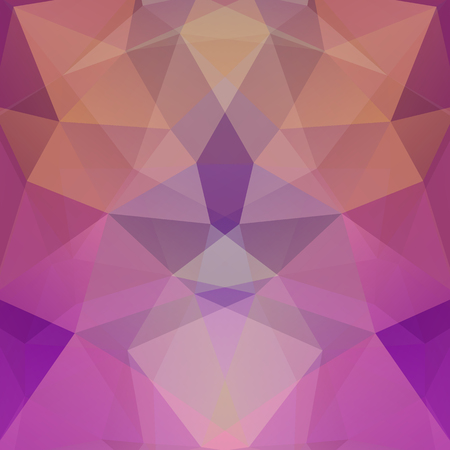 Abstract background consisting of triangles. Geometric design for business presentations or web template banner flyer. Vector illustration. Pink, purple, brown colors.