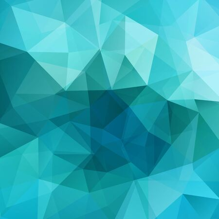 square composition: Background made of blue triangles. Square composition with geometric shapes Illustration