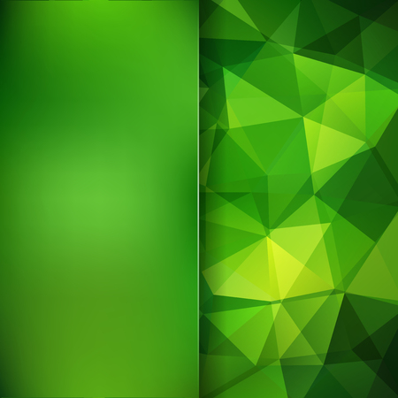 Abstract background consisting of green triangles. Geometric design for business presentations or web template banner flyer. Vector illustration Illustration