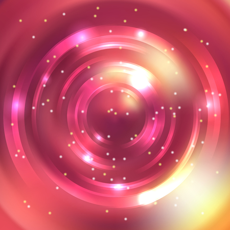 energy flow: Abstract circle background, Vector design. Glowing spiral. The energy flow tunnel. Orange, yellow, pink colors.
