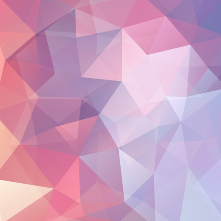 Abstract geometric style pastel pink background. Vector illustration