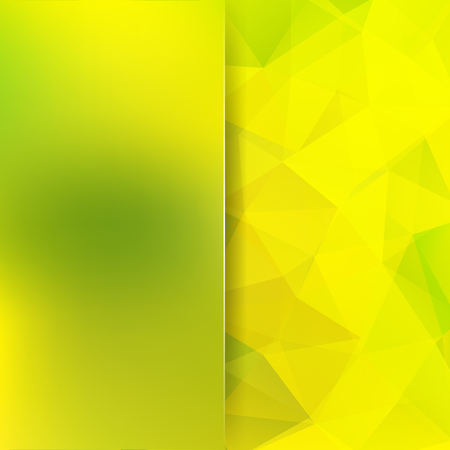 Polygonal vector background. Blur background. Can be used in cover design, book design, website background. Vector illustration. Yellow, green colors