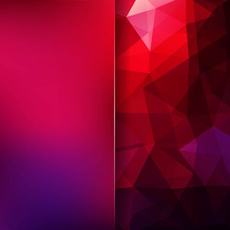 Abstract mosaic background. Blur background. Triangle geometric background. Design elements. Vector illustration. Red, purple, pink colors. Illustration
