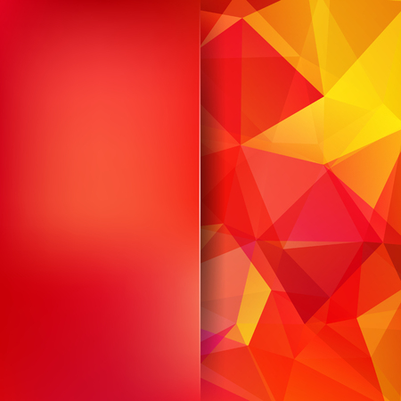Abstract polygonal vector background. Colorful geometric vector illustration. Creative design template. Abstract vector background for use in design. Red, yellow, orange colors