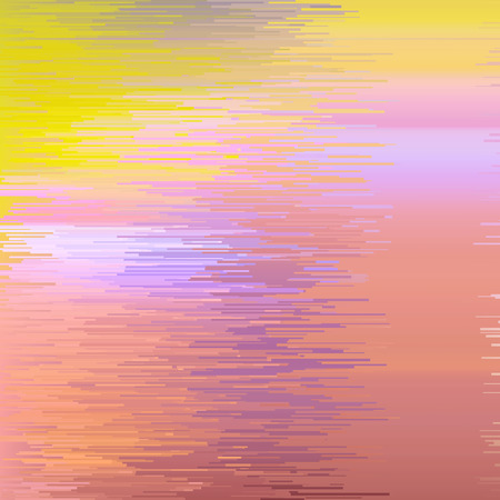 digital glitch background, vector illustration. Yellow, pink, orange colors