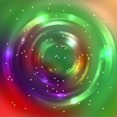 energy flow: Abstract circle background, Vector design. Glowing spiral. The energy flow tunnel. Green, purple, red colors
