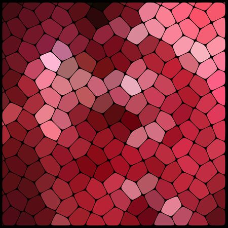 cobble: Abstract background consisting of black lines with rounded edges of different sizes and red geometrical shapes. Vector illustration.