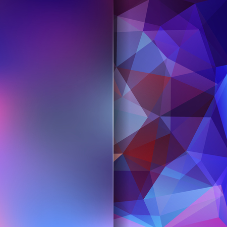 mixed wallpaper: Abstract purple mosaic background. Blur background. Triangle geometric background. Design elements. Vector illustration