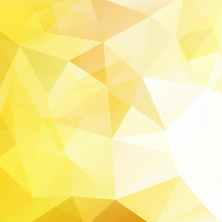 scrunch: Geometric pattern, polygon triangles vector background in yellow tones. Illustration pattern