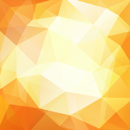 scrunch: Geometric pattern, polygon triangles vector background in white and yellow tones. Illustration pattern