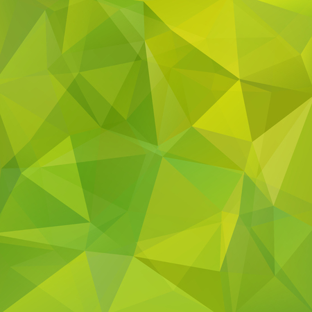 Background of geometric shapes. Green mosaic pattern.