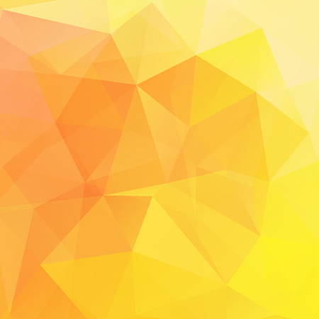 scrunch: Abstract polygonal vector background. Yellow geometric vector illustration. Creative design template.
