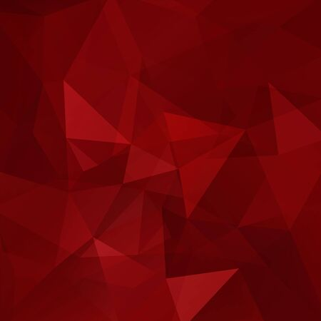 square composition: Background made of red triangles. Square composition with geometric shapes.