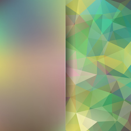 Polygonal vector background. Blur background. Can be used in cover design, book design, website background. Vector illustration. Green, brown colors. Illustration
