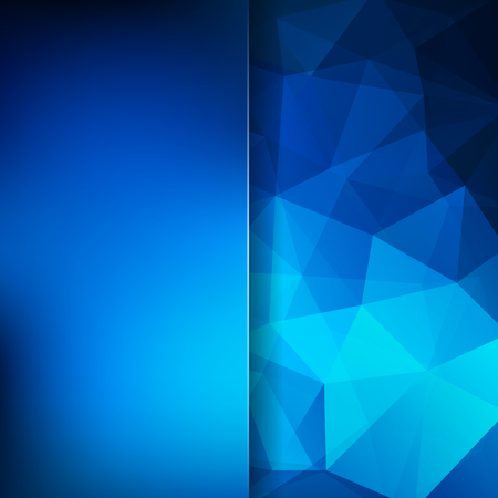Abstract geometric style blue background. Blur background with glass.