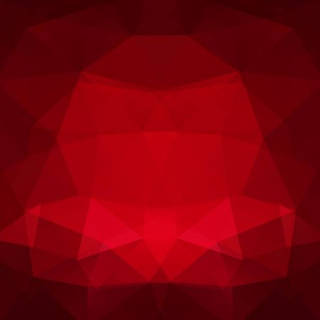Background of geometric shapes. Red mosaic pattern.