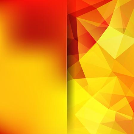 sun block: Abstract polygonal background. Orange geometric illustration. Creative design template. Illustration