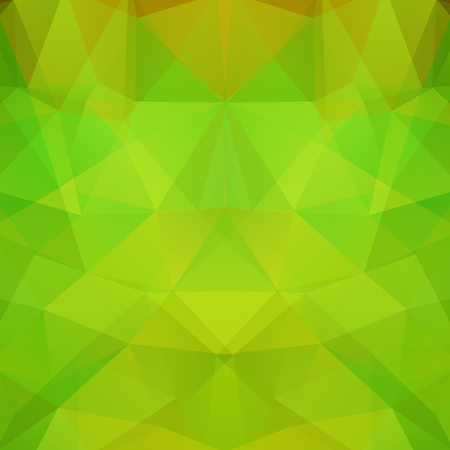 Abstract green mosaic background. Triangle geometric background. Design elements.
