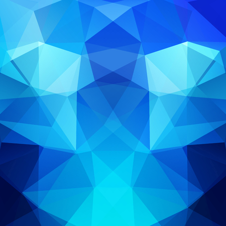 Background of geometric shapes. Blue mosaic pattern.