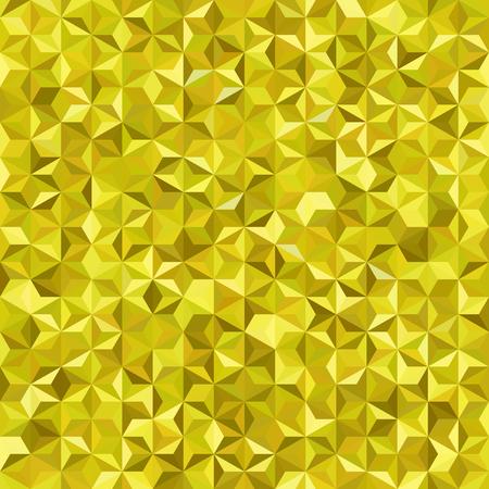 Background of yellow geometric shapes. Seamless mosaic pattern. Vektoros illusztráció