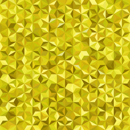 Hintergrund der gelben geometrischen Formen . Nahtloses Mosaikmuster Vektorgrafik