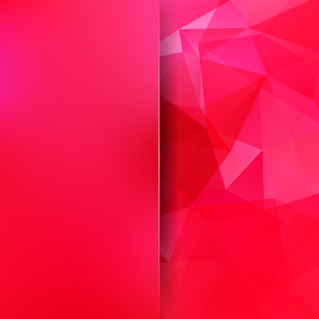 Abstract background consisting of pink, red triangles. Geometric design for business presentations or web template banner Illustration