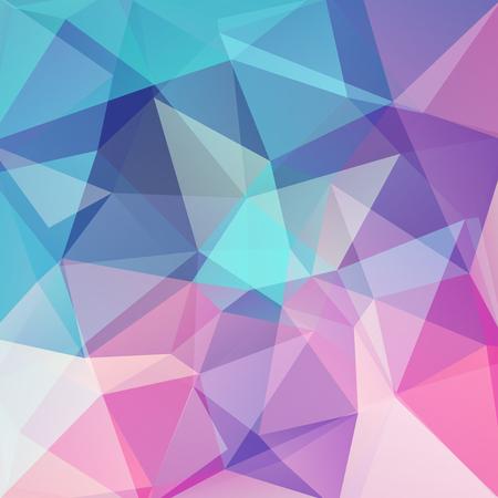기하학적 모양의 배경입니다. 다채로운 모자이크 패턴입니다. 일러스트