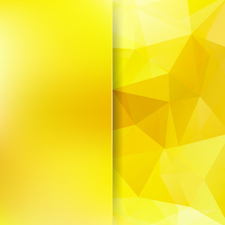 Geometric pattern, polygon triangles background in yellow tones. Blur background with glass. Illustration pattern Illustration