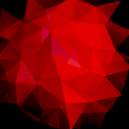 Abstract geometric style red background. Vector illustration.