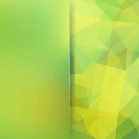Background of geometric shapes. Blur background with glass. Green mosaic pattern. Vector EPS 10. Vector illustration