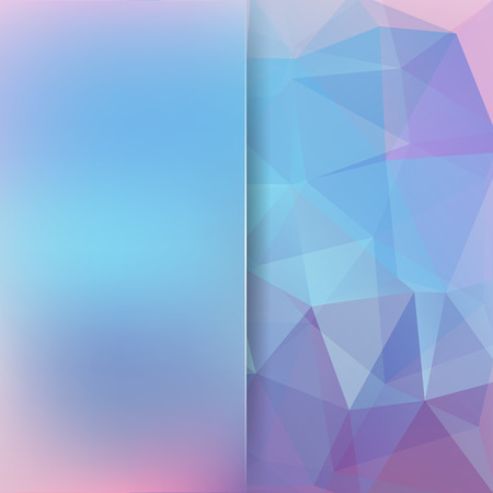 Abstract background consisting of triangles. Geometric design for business presentations or web template banner flyer. Vector illustration. Blue, pink, violet colors.