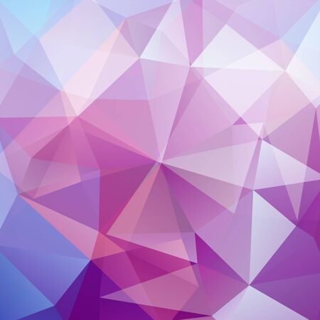 deep pink: Abstract background consisting of triangles. Geometric design for business presentations or web template banner . Vector illustration. Pink, blue, white colors.