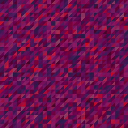 Abstract pink seamless mosaic background. Triangle geometric background. Vector illustration Illustration