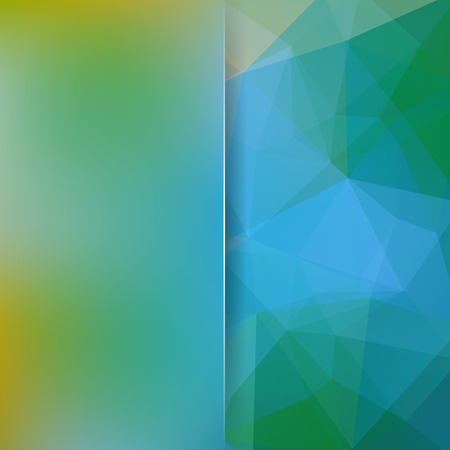 Geometric pattern, polygon triangles vector background in green, blue tones. Blur background with glass. Illustration pattern Ilustrace