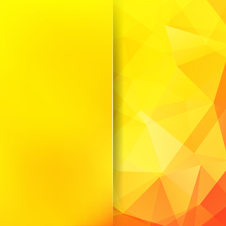 Polygonal yellow vector background. Blur background. Can be used in cover design, book design, website background. Vector illustration