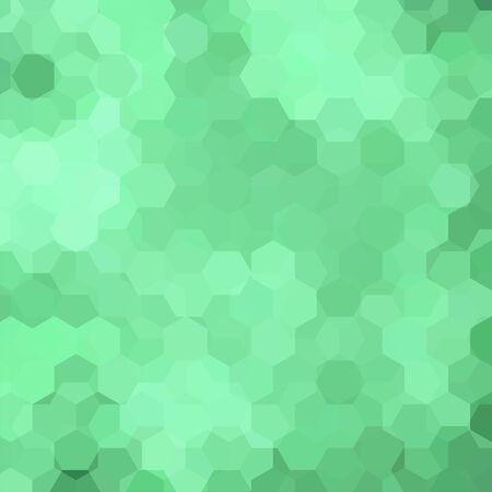 Background of geometric shapes. Light green mosaic pattern.  Vector illustration Illustration