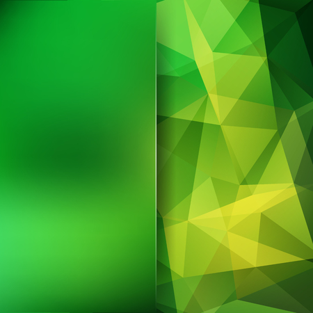 Abstract mosaic background. Blur background. Triangle geometric background. Design elements. Vector illustration. Green, yellow colors. Illustration