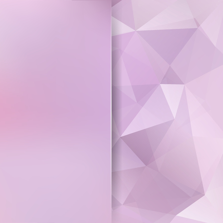 Abstract mosaic background. Blur background. Triangle geometric background. Design elements. Vector illustration. Pastel pink colors.