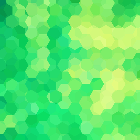 Vector background with green, yellow hexagons. Can be used in cover design, book design, website background. Vector illustration.