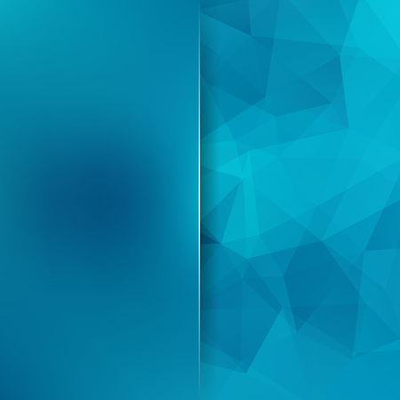 Geometric pattern, polygon triangles vector background in blue tones. Blur background with glass. Illustration pattern. Illustration