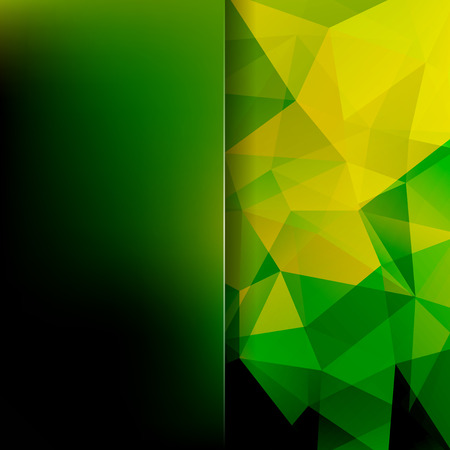 Abstract background consisting of yellow, green triangles. Geometric design for business presentations or web template banner flyer. Vector illustration. Illustration