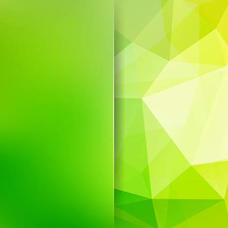 Polygonal vector background. Blur background. Can be used in cover design, book design, website background. Vector illustration. White, yellow, green colors Illustration