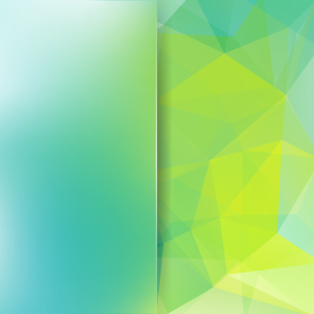 Abstract mosaic background. Blur background. Triangle geometric background. Design elements. Vector illustration. Blue, green, white colors