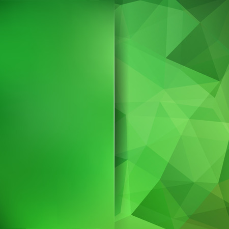 Abstract geometric style green background. Blur background with glass. Vector illustration.