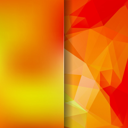 Abstract mosaic background. Blur background. Triangle geometric background. Design elements. Vector illustration. Yellow, orange, red colors. Illustration