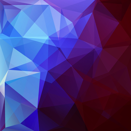 Geometric pattern, polygon triangles vector background in blue, purple tones. Illustration pattern