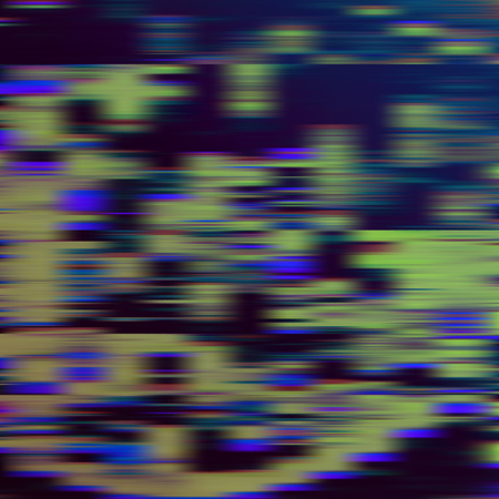 analogy: Glitch abstract background, vector illustration. Black, green, blue colors