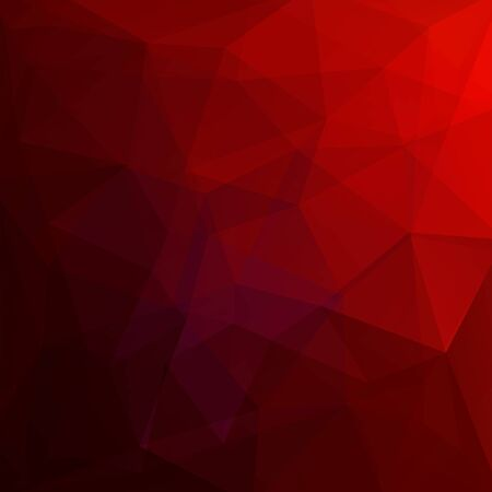 Background made of red triangles. Square composition with geometric shapes. Eps 10 Illustration