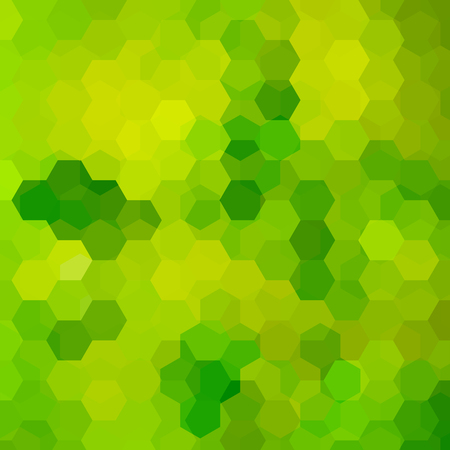 Geometric pattern, vector background with hexagons in green tones. Illustration pattern Illustration