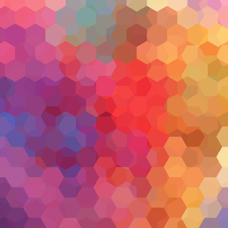 Background of geometric shapes. Colorful mosaic pattern. illustration. Orange, red, purple colors. Illustration